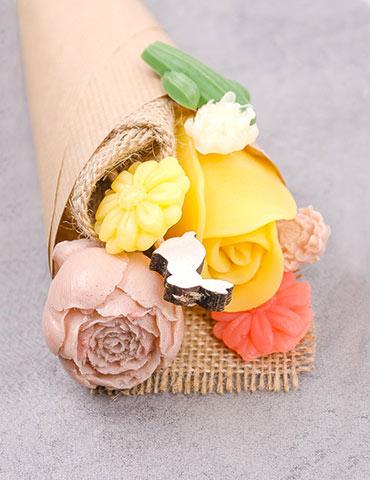 mydlové kytice návod
