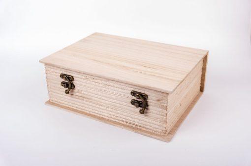 Drevená krabička na dekupáž kniha veľká