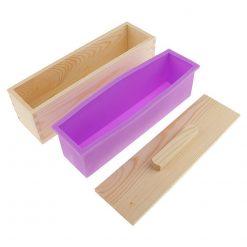 Silikónová forma na mydlo v drevenom boxe