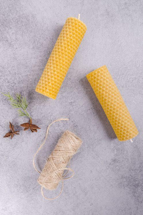 Návod ako vyrobiť točené sviečky z včelieho vosku
