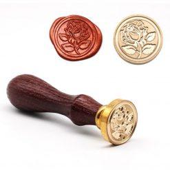 Kovové pečatidlo Ružička s lístkami