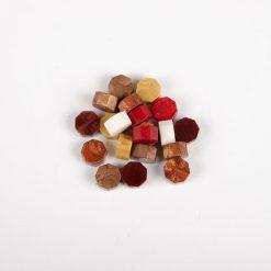 Pečatný vosk granulát mix bordový