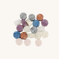 Pečatný vosk granulát mix fialovo - biely