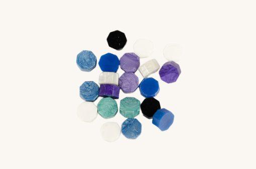 Pečatný vosk granulát mix fialovo - čierny
