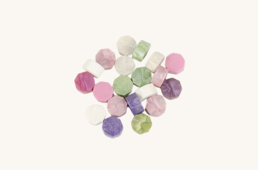 Pečatný vosk granulát mix ružovo - zelený