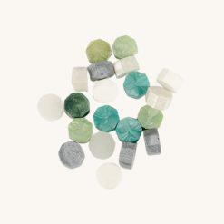 Pečatný vosk granulát mix smaragdovo zelený