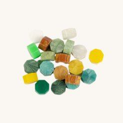 Pečatný vosk granulát mix zelený