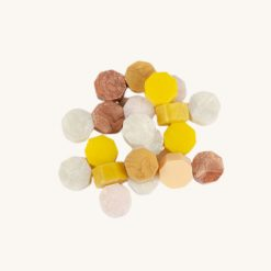 Pečatný vosk granulát mix zlatý