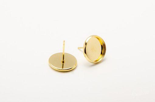 Napichovacie náušnice zlaté 12 mm