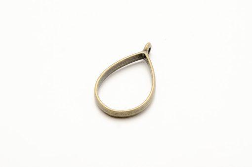 Bronzové lôžko na živicové šperky slza 35 x 21 mm
