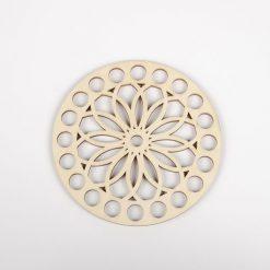 Dno na košík vyrezávaný kruh kvet 10 cm
