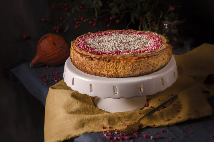 Cheesecake z hokaido tekvice a slaným karamelom