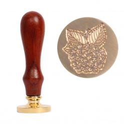 Kovové pečatidlo hortenzia