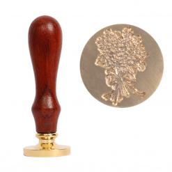 Kovové pečatidlo kytica