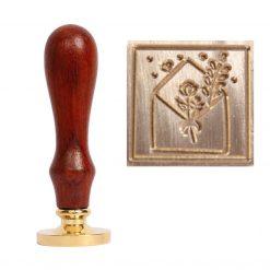 Kovové pečatidlo Obálka a kvietok