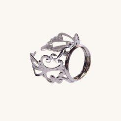 Ložko na živicové šperky prsteň 12 mm strieborný