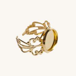 Ložko na živicové šperky prsteň 12 mm zlatý