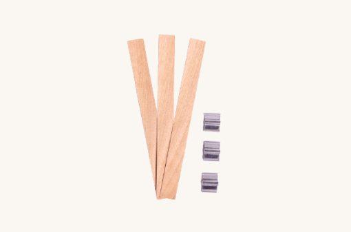 Praskajúci drevený knôt na sviečky 13 cm 3 ks