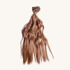Vlnité vlasy pre bábiku variant 1
