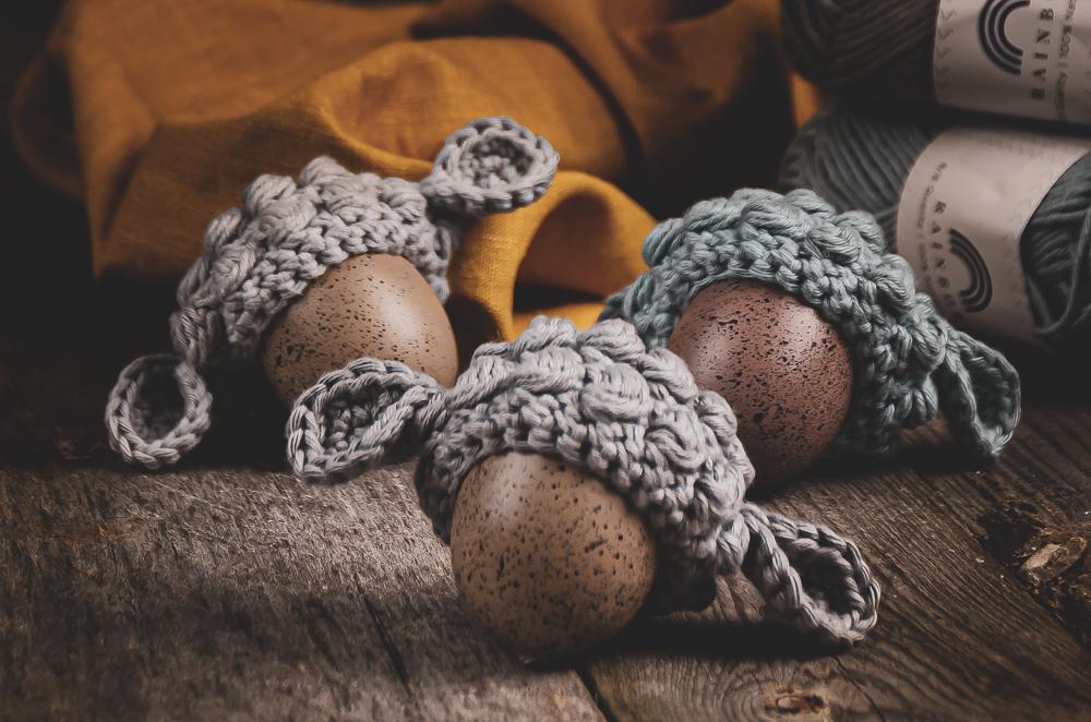 Návod na háčkované čiapočky na veľkonočné vajíčka