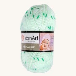 Vlna YarnArt Baby color zelená