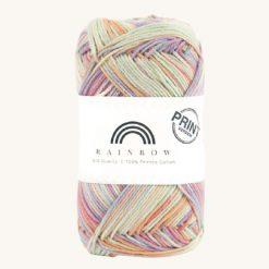 Vlna na háčkovanie Rainbow Cotton Print Anette 01