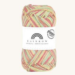 Vlna na háčkovanie Rainbow Cotton Print Emma 08