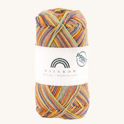 Vlna na háčkovanie Rainbow Cotton Print Frida 09