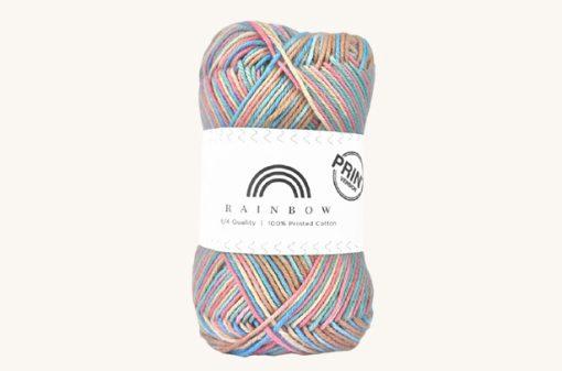 Vlna na háčkovanie Rainbow Cotton Print Josefine 17