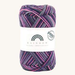 Vlna na háčkovanie Rainbow Cotton Print Kathrina 05