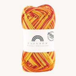 Vlna na háčkovanie Rainbow Cotton Print Lene 12