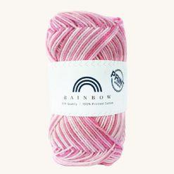 Vlna na háčkovanie Rainbow Cotton Print Sonja 15