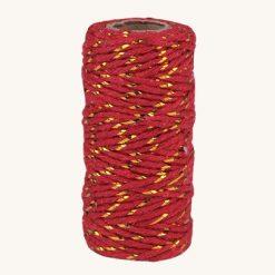 Bavlnený špagát červeno zlatý