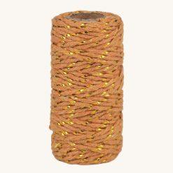 Bavlnený špagát medeno zlatý