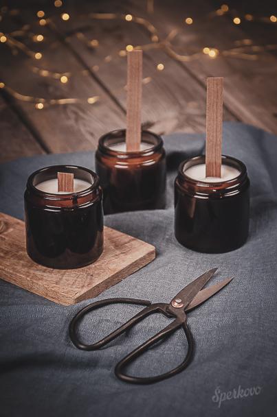 Návod na sójové sviečky s dreveným knôtom