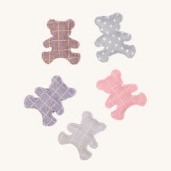 Textilná dekorácia medvedík 5 ks