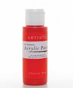 Akrylová farba Cherry Red