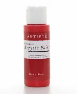 Akrylová farba Dark Red