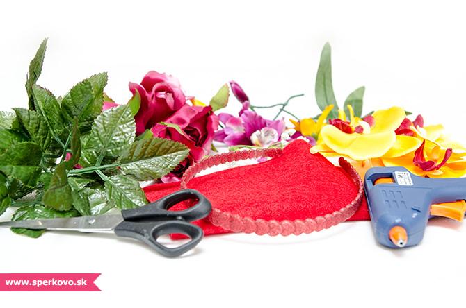 Kreatívny návod na výrobu čelenky z kvetov