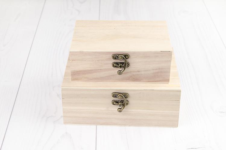 Drevená decoupage krabička Varieté sada 2 ks