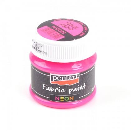 Farba na textil neónová ružová 50 ml