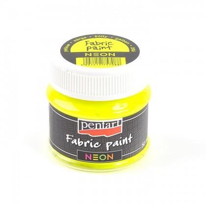 Farba na textil neónová žltá 50 ml