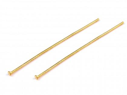Ketlovacie nity 40 mm zlaté 10 ks