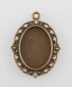 kovove-lozko-oval-ornament-bronz