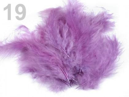 Pštrosie pierka fialová svetlá