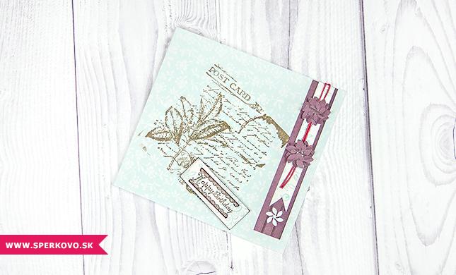 Cardmaking - použitie pečiatok