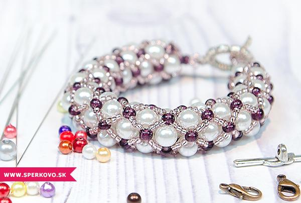 Kreatívny kurz Dutinka šité šperky náramok