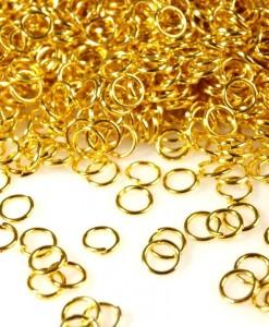 Spojovacie krúžky 6 mm zlaté