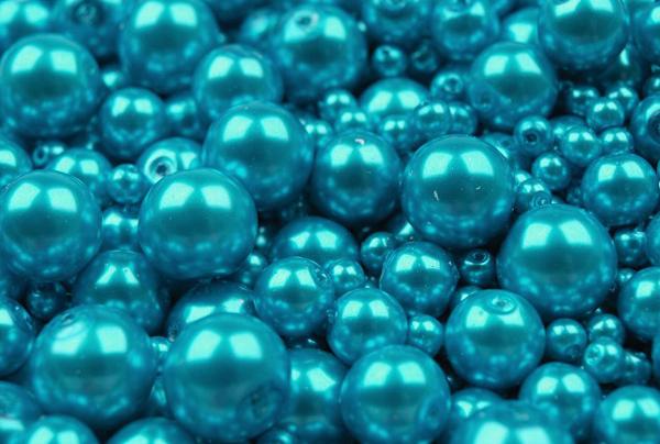 Voskované perly tyrkysové 25 g